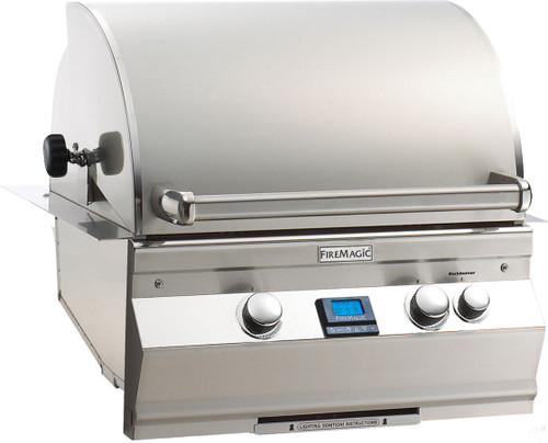 """Fire Magic A430i-6E1N Aurora 24"""" Built-In Gas Grill with Rotisserie Backburner - Natural Gas"""