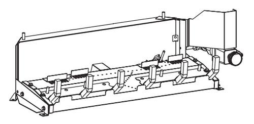 "White Mountain Hearth VSR-18N 18"" Millivolt Valve Vented Slope Glaze Burner - Natural Gas"