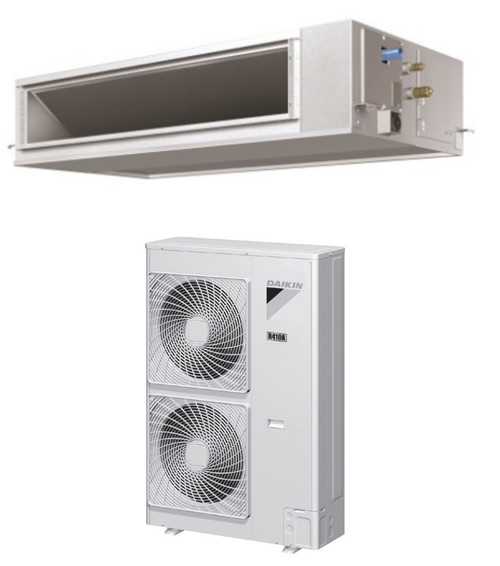 Daikin FBQ36PVJU / RZR36PVJU 36000 BTU Class SkyAir Commercial DC Ducted Concealed Ceiling Cool Only 17.5 SEER Single Zone System