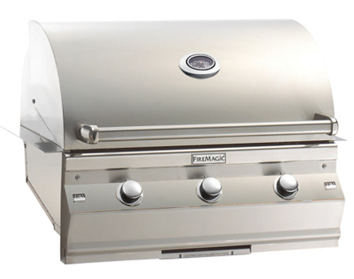 "Fire Magic A540i-6E1P Aurora 30"" Built-In Gas Grill with Rotisserie - Liquid Propane"