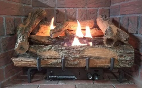 Everwarm Low Country Timber Log Set - Choice of Vent Free Burner