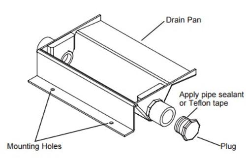 GE RAVDP18 Drain Pan for Zoneline 18000 BTU Vertical Air