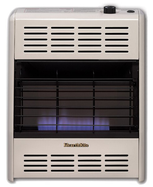 HearthRite HB20T 20000 BTU Blue Flame Vent Free Gas Heater with Thermostat