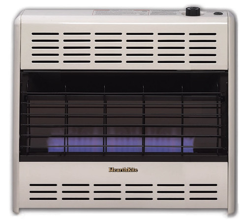 HearthRite HB30T 30000 BTU Blue Flame Vent Free Gas Heater with Thermostat