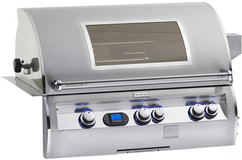 "Fire Magic E790i-4E1NW Echelon Diamond 36"" Built-In Gas Grill with Window and Rotisserie - Natural Gas"