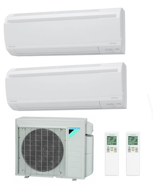 Daikin 18000 BTU Class Aurora Series Dual Zone with 2 7000 BTU Wall Units
