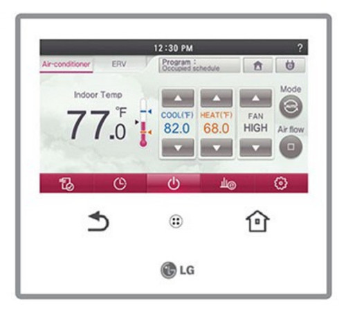 LG PREMTA000 Wired Touchscreen Programmable Remote Controller/Thermostat