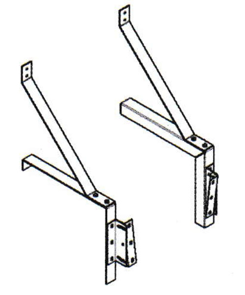 "Mars J0011G-OB Phantom 23"" Clearance Drum-Roll-Style Extended Wall-Mounting Bracket"