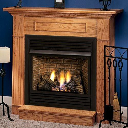 "Monessen WSHGC32F-O-A 32"" Oak Standard Wall Cabinet Mantel with Hearth - Honey Oak"