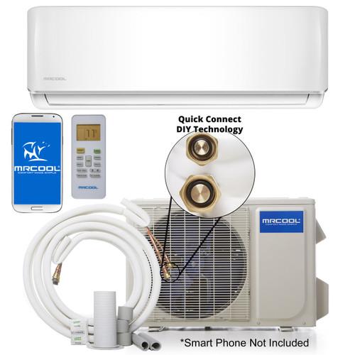 MRCOOL DIY-12-HP-C-115A / DIY-12-HP-WMAH-115A 12000 BTU DIY Single Zone Mini Split System, 115 Volt