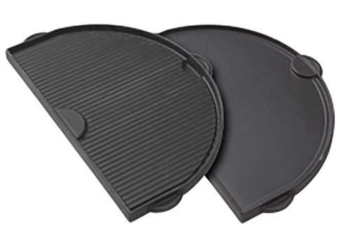 Primo PRM360 Half-Moon Cast Iron Griddle for Oval 400 Series Grill