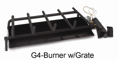 """RH Peterson Real-Fyre G4-18/20 18"""" / 20"""" Glowing Ember Vented Burner with APK-11P ON/OFF Valve - Natural Gas"""