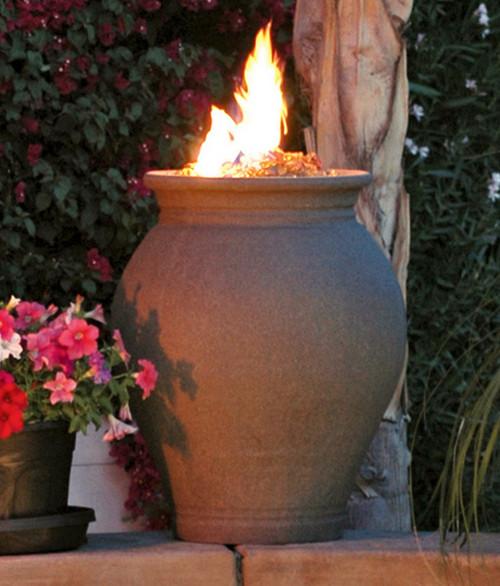 American Fyre Designs 660CB11V2PC Amphora Fire Urn in Cafe Blanco
