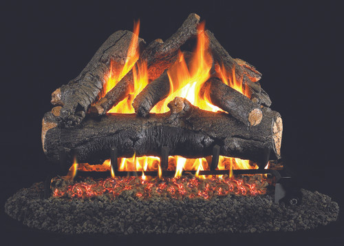 RH Peterson Real-Fyre American Oak Designer Log Set - Choice of Vented Burner and Valve Kit