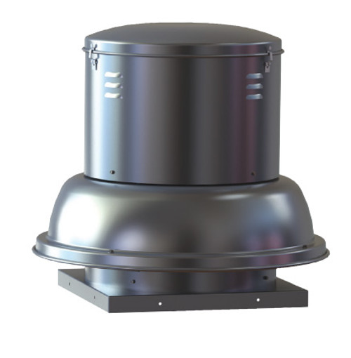 "S & P SDB0PMH1S Downblast Belt Drive Centrifugal Roof Exhauster - 8"" Wheel, 115 Volt"