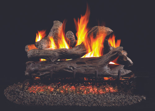 RH Peterson Real-Fyre Coastal Driftwood Log Set - Choice of Vented Burner and Valve Kit