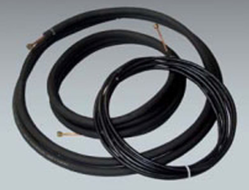 "THS 383425WIRE Line Set with Wire for Ductless Mini Split Air Conditioning Systems - 3/8"" x 3/4"" x 1/2"" Insulation x 25'"