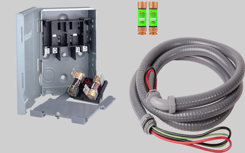 quick disconnect switch kit 35/40/45/50/60 amp mini split air conditioners  total home supply