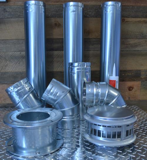 "6"" Horizontal Unit Heater Vent Kit with Vent Cap"