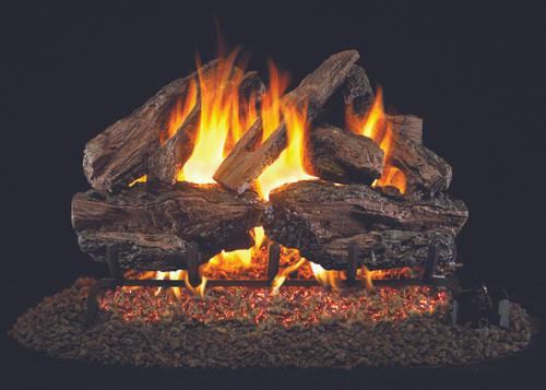 """RH Peterson Real-Fyre CHRED-24 24"""" Charred Red Oak Vented Log Set"""