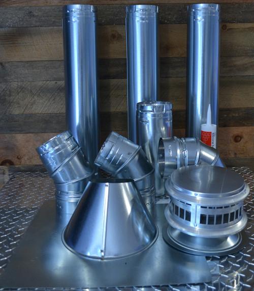 """4"""" Vertical Unit Heater Vent Kit with Vent Cap"""