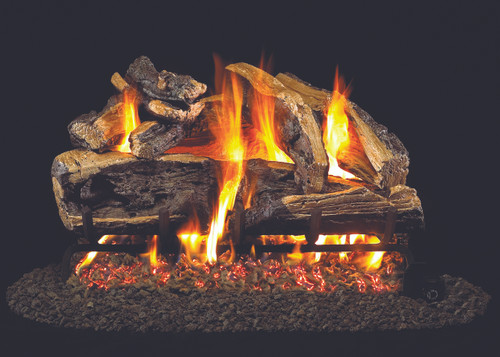 "RH Peterson Real-Fyre CHRRSO-30 30"" Charred Rugged Split Oak Vented Log Set"