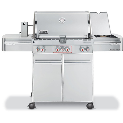 Weber Summit S-470 7270001 Freestanding Gas Grill with  Sear Station, Side Burner and Rotisserie - Natural Gas