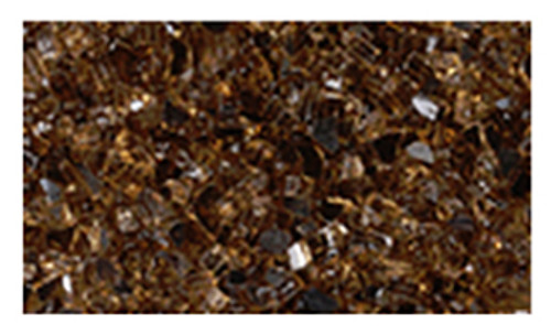 Superior CRSHGL-C 5 Pound Bag Copper Crushed Glass