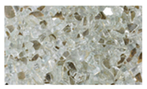 Superior CRSHGL-P 5 Pound Bag Platinum Crushed Glass