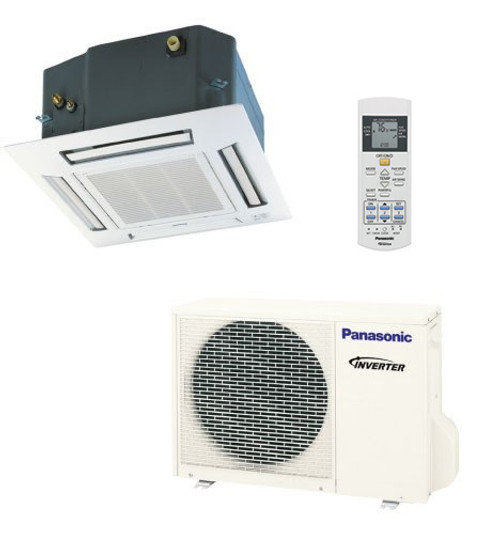 Panasonic E12RB4U 11900 BTU Single Zone Ceiling Cassette System - Heat Pump