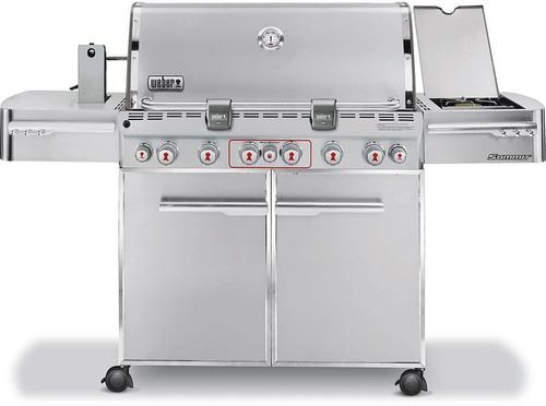 Weber Summit S-670 7470001 Freestanding Gas Grill with  Sear Station, Side Burner and Rotisserie - Natural Gas