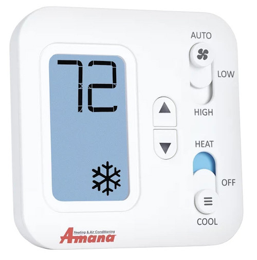 Amana PHWT-A150HKIT Non-Programmable 2 Stage Wired Wall Thermostat with Wiring Harness