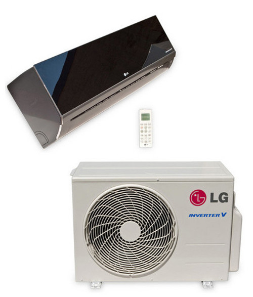 LG LA090HSV5 9000 BTU Art Cool Mirror Single Zone Heat and Cool Mini Split with Built-In WiFi