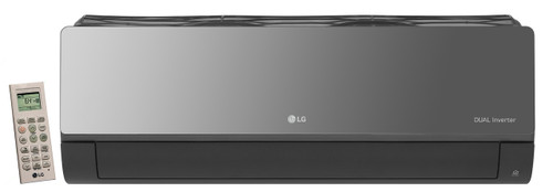 LG LAN090HSV5 9000 BTU Art Cool Mirror Wall Indoor Unit Only - Heat and Cool - Built-In WiFi