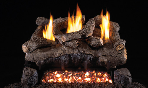 RH Peterson Real-Fyre Evening Fyre Log Set and Vent Free Burner