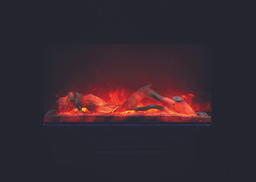 """Amantii WM-FM-50-BG 50"""" Built-In Electric Fireplace with Log"""