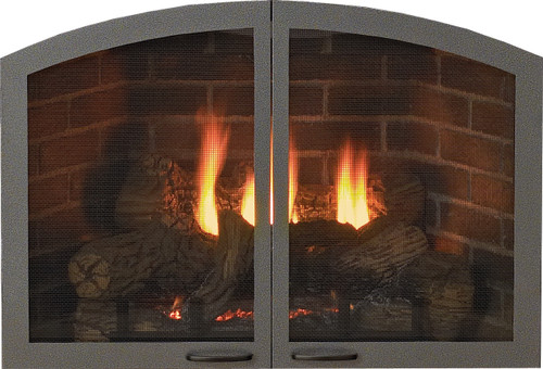 "White Mountain Hearth VBR32TCHP 32"" Arch Doors for Breckenridge Premium 32 in Hammered Pewter"
