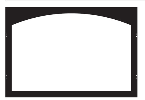White Mountain Hearth VFY36SBL Arch Hinge Door Frame in Matte Black