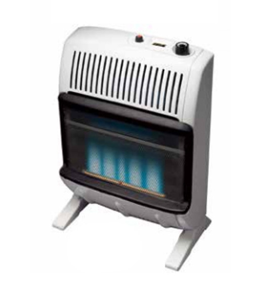 Heatstar HSSVFBF20NGBT 20000 BTU Vent Free Blue Flame Heater with Thermostat and Blower, Natural Gas