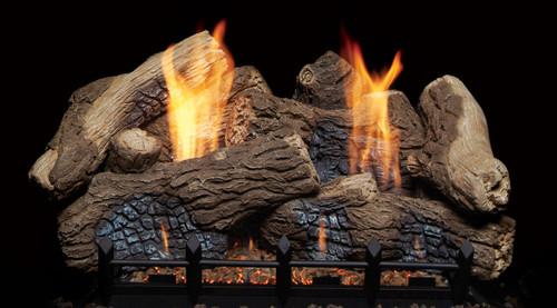 "Monessen BO18-F 18"" Berkley Oak Ceramic Fiber Log Set"