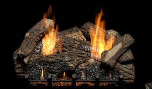 Monessen Berkley Oak Refractory Log Set, Choice of Vent Free Burner