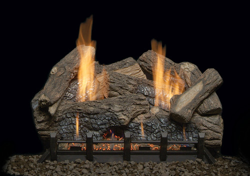 "Monessen HO24-R 24"" Highland Oak Refractory Log Set"