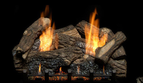 Monessen Berkley Oak Refractory Log Set, Choice of Vent Free Burner
