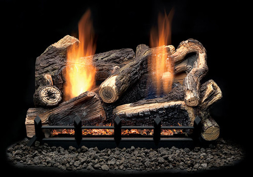 Monessen Kentucky Wildwood Refractory Log Set, Choice of Vent Free Burner