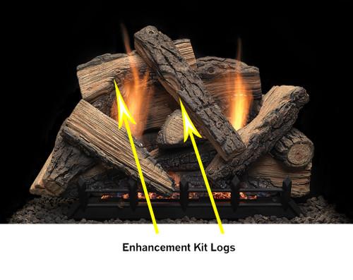 "Monessen SC2430EK 2 Piece Enhancement Kit for 24"" and 30"" Stony Creek Log SEt"