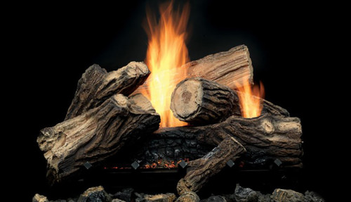 """Monessen MJ22 22"""" Mojo Vent Free Log Set with Hi/Lo Thermostat Remote and Burner"""