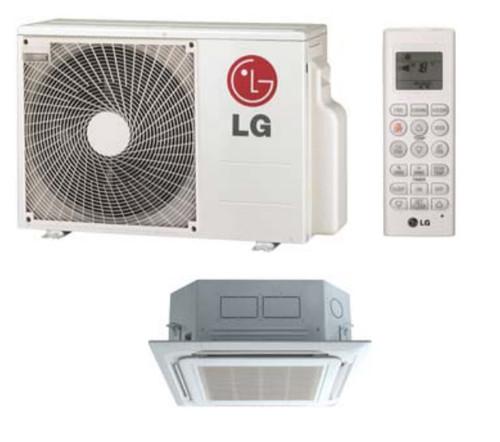 LG LC127HV4 11100 BTU Single Zone Ceiling Cassette Mini Split System