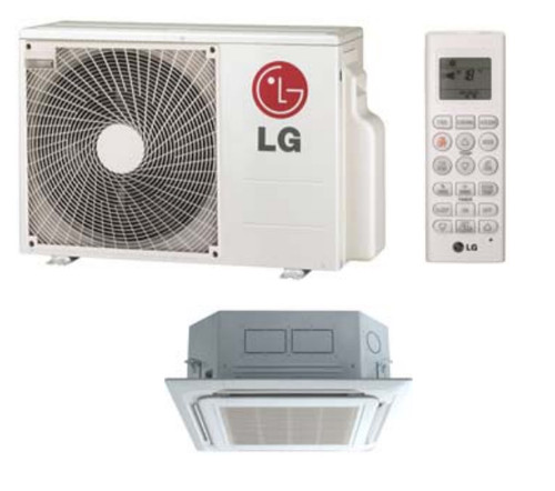 LG LC127HV4 11100 BTU Single Zone Ceiling Cassette Mini Split System