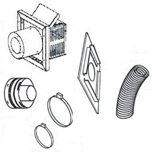 """Superior SFKIT12SS Secure Vent Flex Small Square Termination Kit with 12"""" Compressed Vent"""