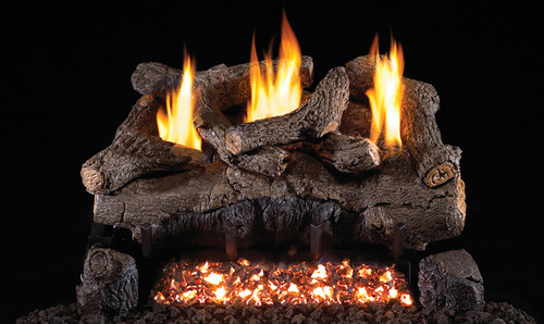 "RH Peterson Real-Fyre EFV16/18 16""/18"" Evening Fyre Replacement Logs for G18 Vent-Free Burners (LOGS ONLY)"